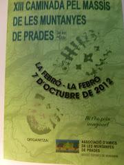 7 Octubre 2012: La Febró (Tarragona)