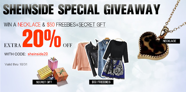 Sheinside 50$ Gift Card, Necklace Giveaway (2 winners)