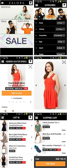 Tampilan Aplikasi Mobile ZALORA