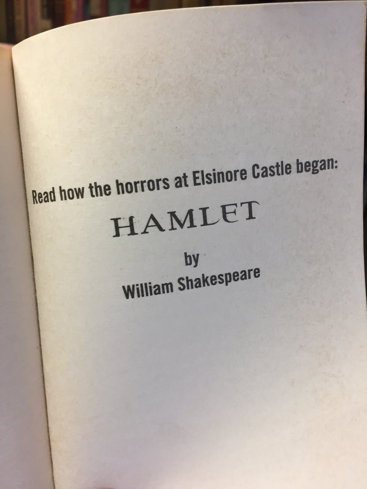 hamlet notes and reflections Who is hamlet why are we reading this questions for hamlet 3 i can take notes on things i hear to and excited by the reflections of the.