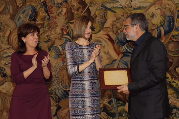 Queen Letizia of Spain attended a audience with the Board of the Royal Association of Friends of the Reina Sofia Museum