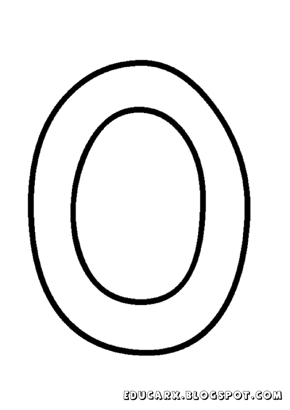 Molde da letra maiúscula O