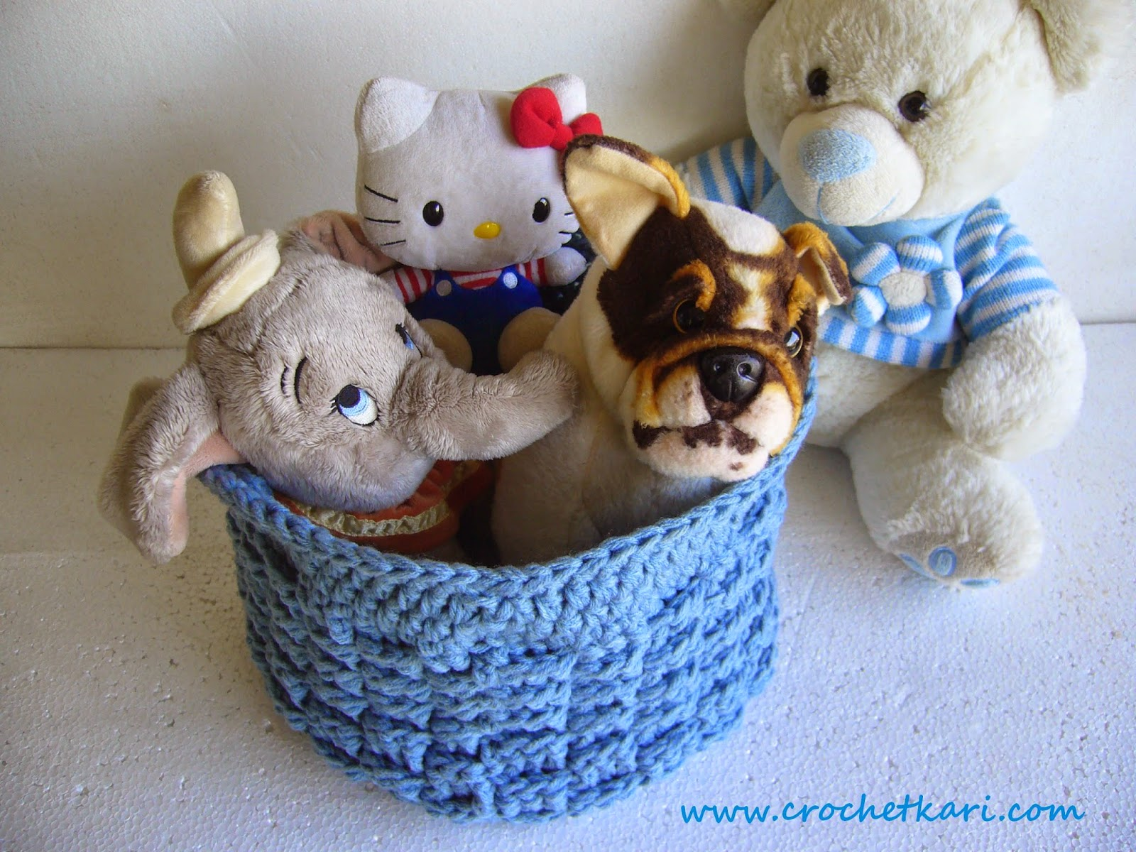 Crochet Basket weave basket