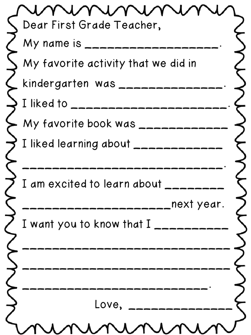 math worksheet : first grade funtastic letter to next year s teacher *freebie* : Thank You Letter For My Student Teacher