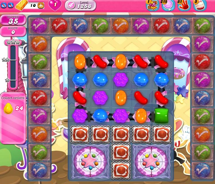 Candy Crush Saga 1258