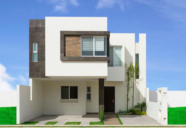 Fachadas minimalistas for Fachadas de ventanas para casas modernas