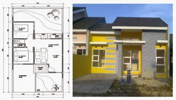 Denah dan Desain Eksterior Rumah Mungil Minimalis
