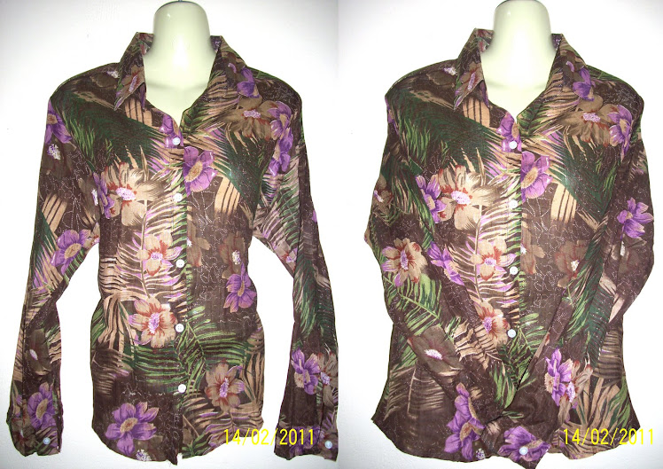 Brown Flower Blouse - FR18