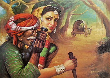 Rajasthani Girls Art Paintings 3