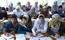 pelajar perempuan Rusia