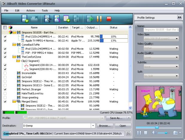 Программа для работы с видеофайлами Xilisoft Video Cutter позволяет.