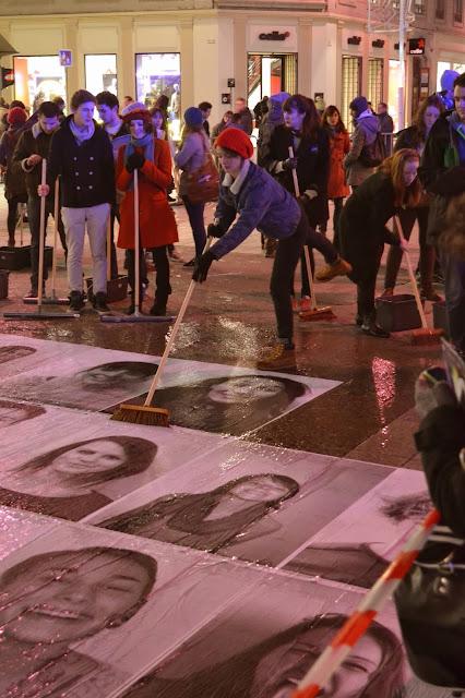 Charlotte Le Bon lyon Bellecour commémoration marche 2013 portraits affiches