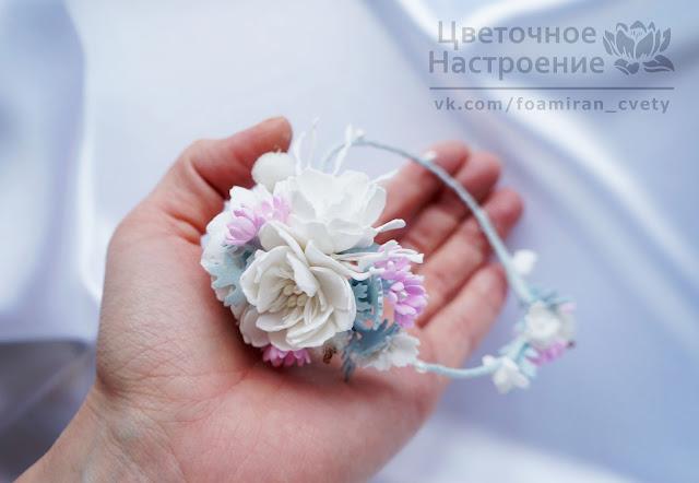 цветы в прическу невесте