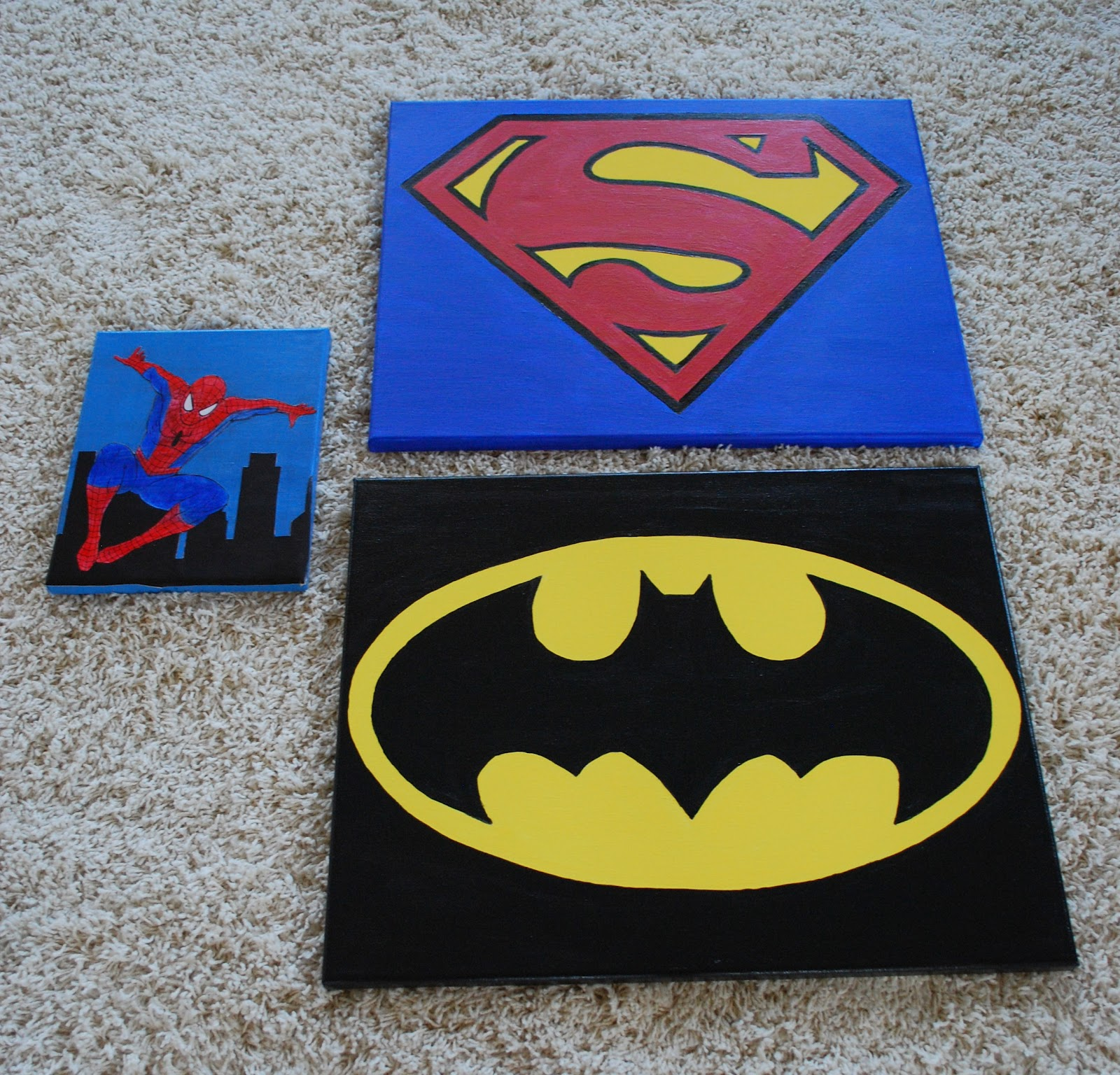 Champagne Thursdays Superhero Canvases