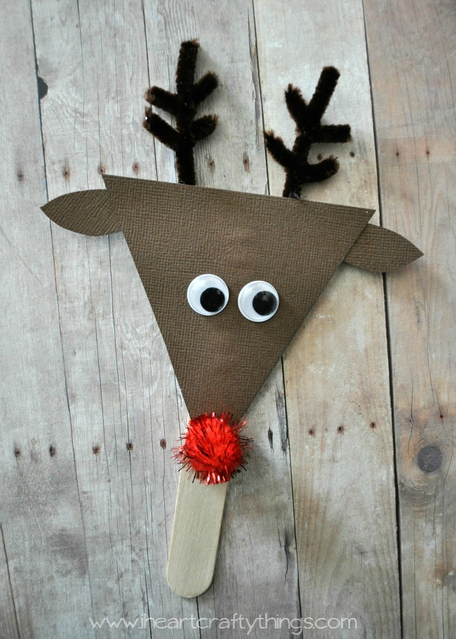 how to make a reindeer shadow puppet