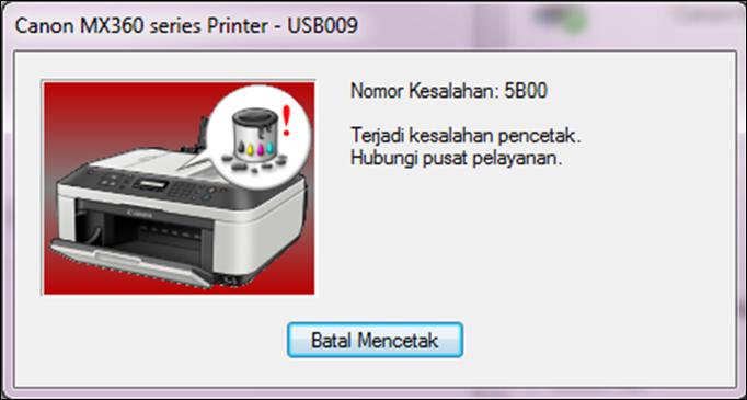 Notifikasi error 5B00