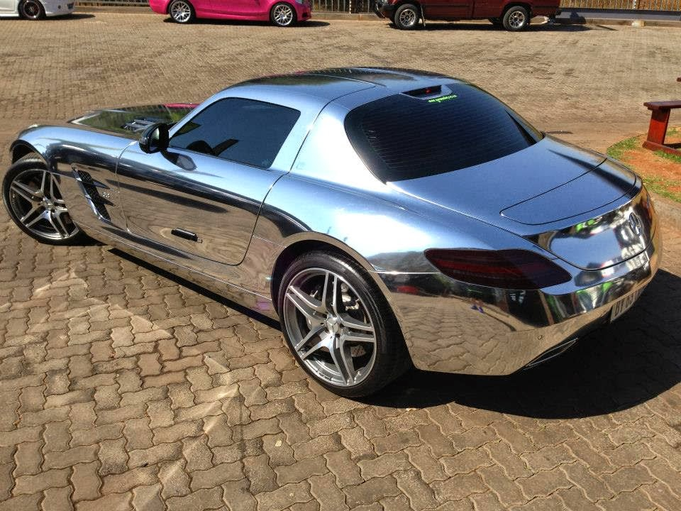 Full chrome mercedes benz sls amg in south africa for Mercedes benz chrome