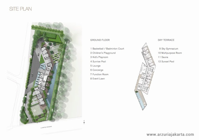 Siteplan Arzuria Apartment Jakarta Selatan