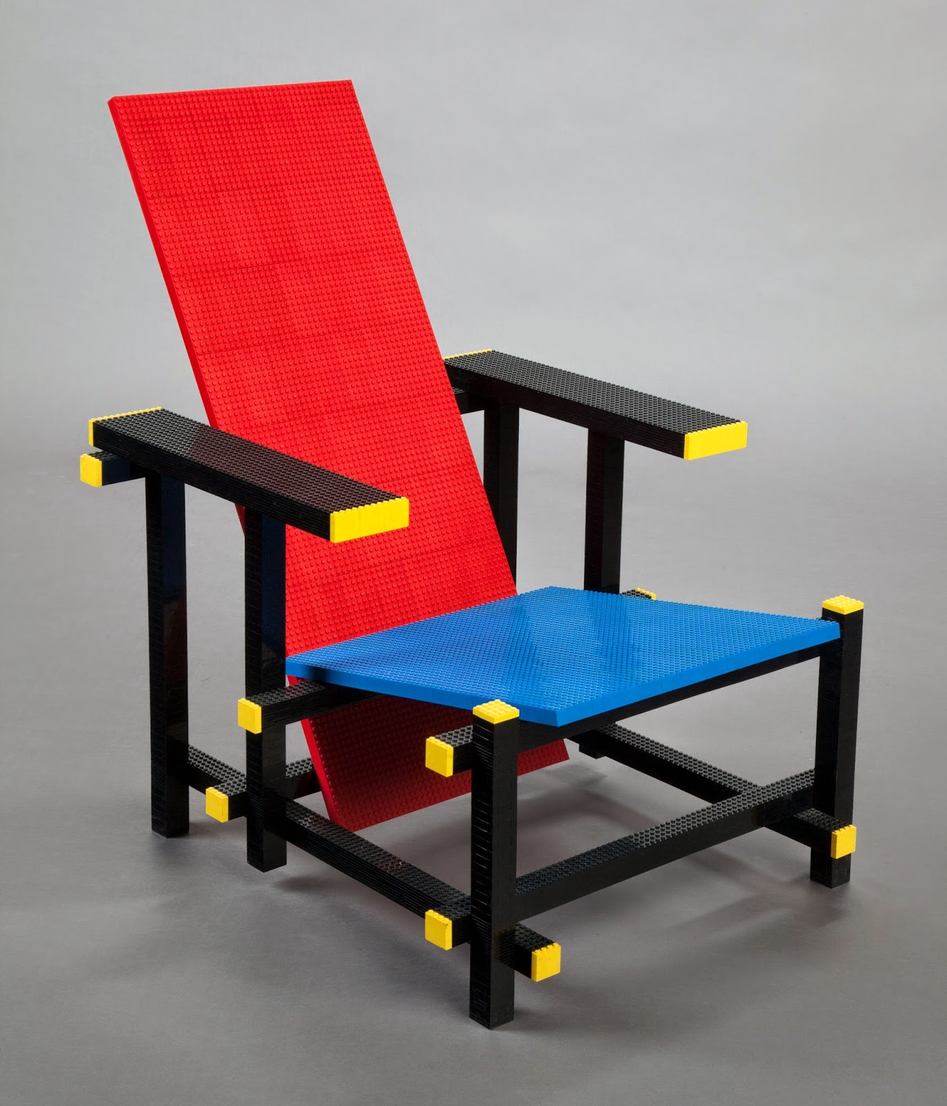 Mario minales 2007 red blue lego chair opening bid 5000