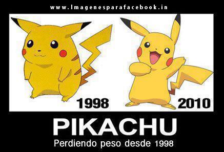 Pikachu perdiendo peso desde 1998