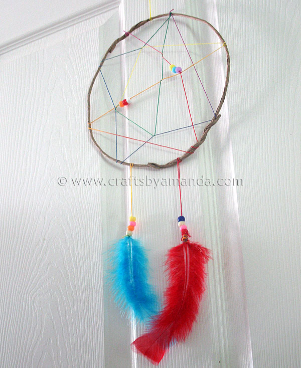 Making Dream Catchers Supplies Camp Crafts Rainbow Dream Catcher Crafts by Amanda 32