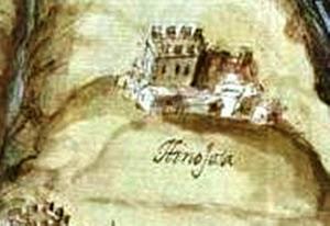 Castillo de Hinojosa de Duero en 1643