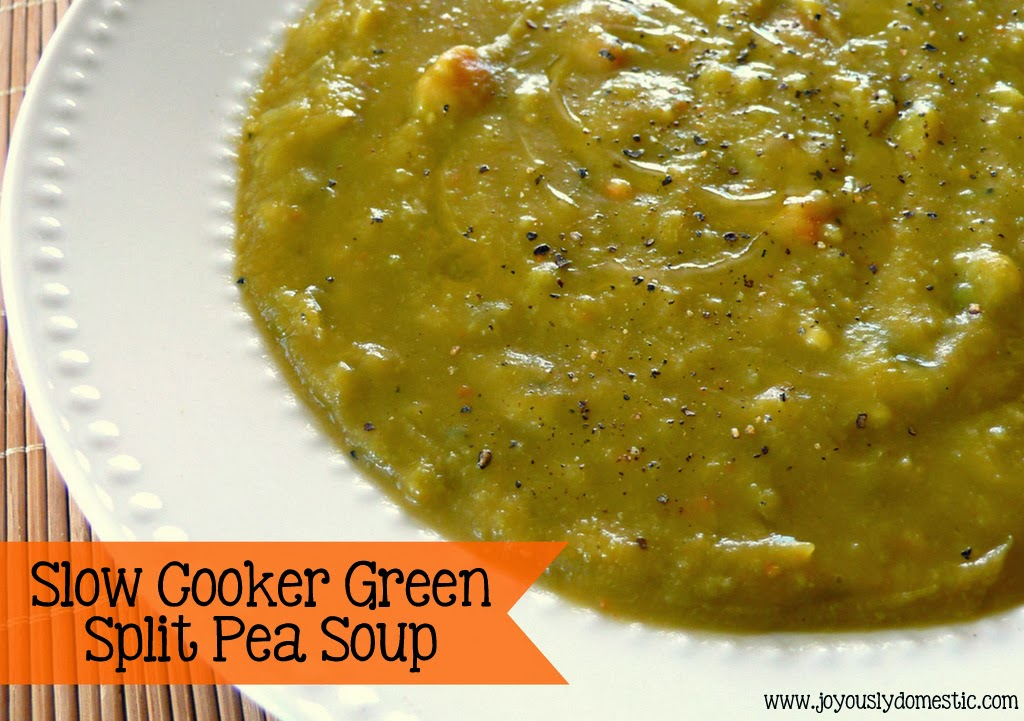 Slow Cooker Split Pea Soup Recipe — Dishmaps