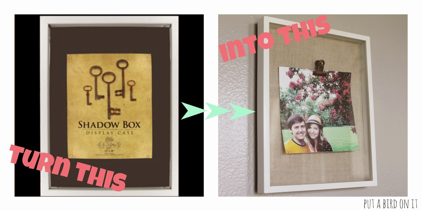 Diy shadow box frame makeover guest post from daniela put a i purchased a shadow box frame from target on clearance mine was different from the one pictured above because the back of the shadow box was bright jeuxipadfo Gallery