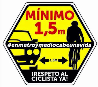 ¡Respeto al ciclista ya!