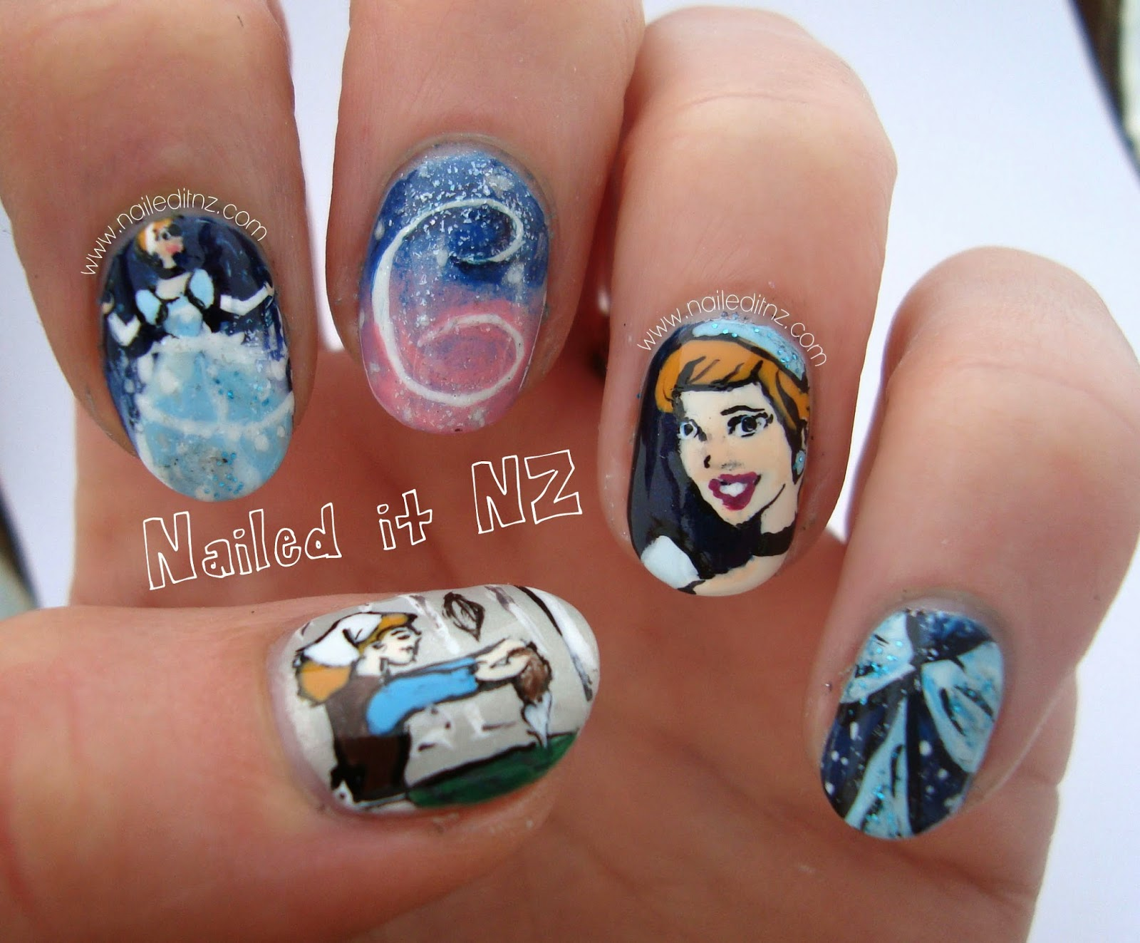 Disney Nail Art 3 Cinderella