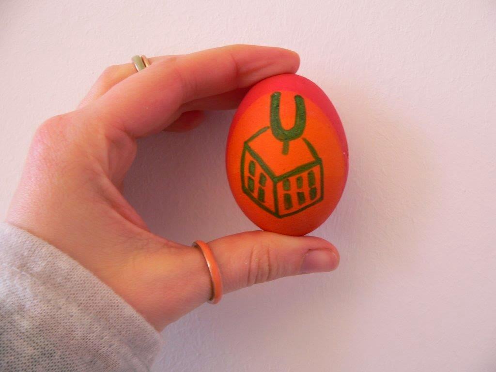 Dortmunder U Eier bemalen Fasermaler lebensmittelecht
