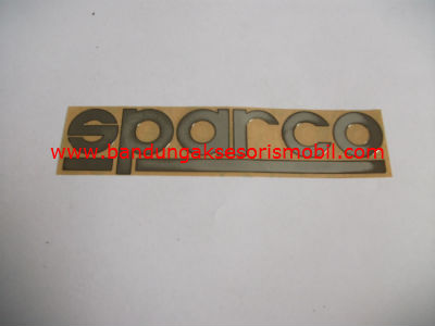 Emblem Alumunium 3M Besar Chrome Sparco