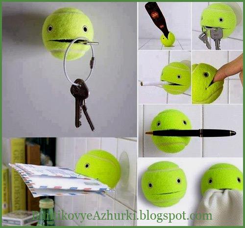 креативное применение теннисного мячика