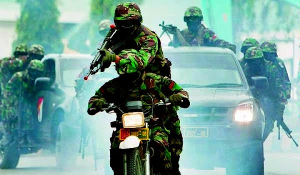 Pasukan Batalyon Raider TNI AD. PROKIMAL ONLINE Kotabumi Lampung Utara