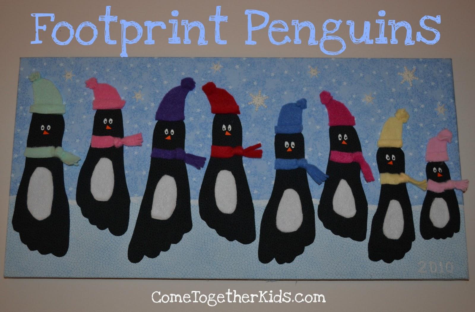 christmas footprint penguins design dazzle