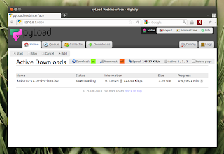 pyload download managerweb interface