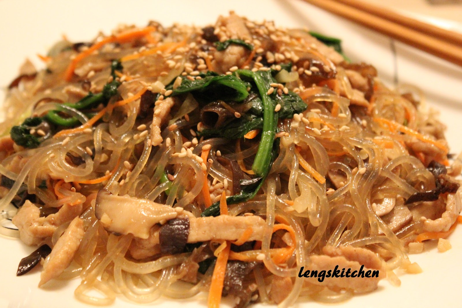 Japchae (Korean Stir-Fried Sweet Potato Noodles) Recipes ...