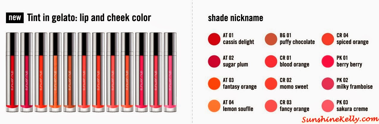 Shu Uemura, Tint In Gelato, Lip & Cheek Colour