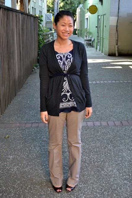 sacramento office fashion blogger angeline evans the new professional agaci top loft cardigan br factory pants enzo angiolini pumps nordstrom stud earrings