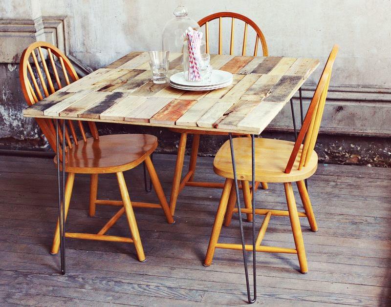 Como hacer una mesa r stica con - Tablas para mesas ...