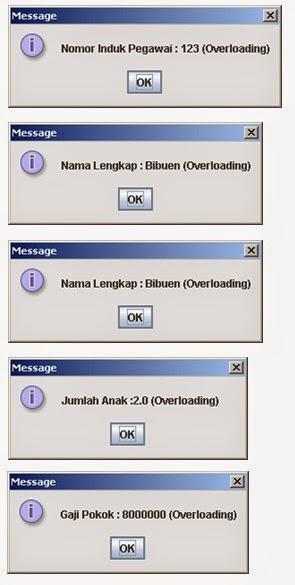Program Menggunakan Method Overloading