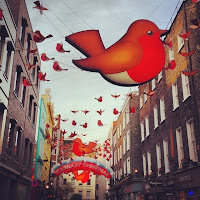 Carnaby Street at Christmas, London, UK