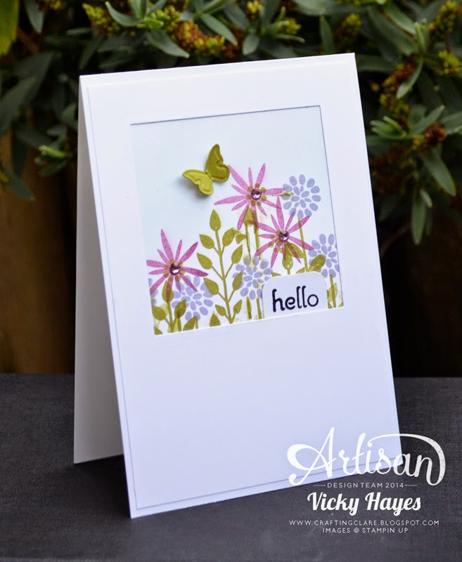 Flower Patch stamps and framelits by Stampin' Up available to buy online from UK independent Stampin' Up demonstrator Vicky Hayes