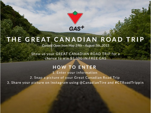 Canadian Tire Great Canadian Road Trip Contest