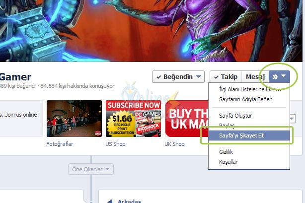 facebook hesap şikayet etme