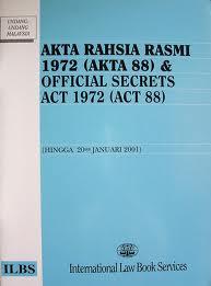 Akua Sumpah Akta Rahsia Rasmi 1972