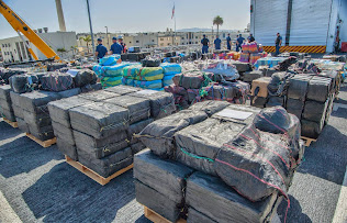 U.S. NAVY DISPLAYS 28,000 POUNDS OF COCAINE