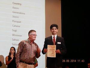 PCCP Student Lakshya Bhatnagar won Bronze Medal in IESO