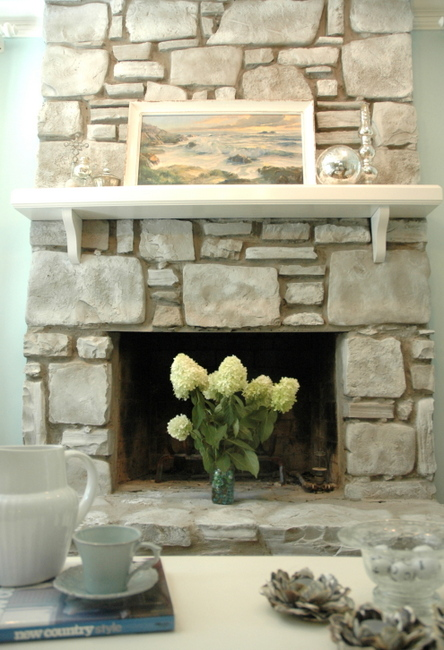 Splendid Spaces Revamping A Tired Stone Fireplace