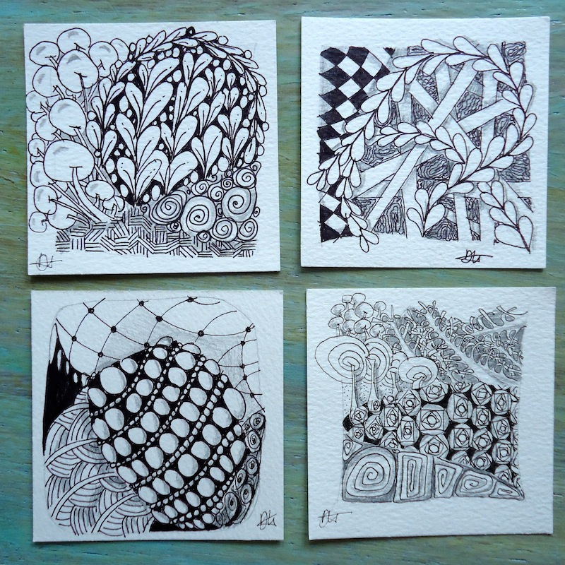 Zentangle tiles by Ivy Arch